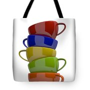 Stacked Cups Tote Bag