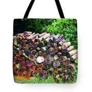 Stacked Firewood Tote Bag
