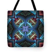 Stacked Kaleidoscope Tote Bag