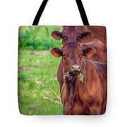 Stacked Up Cows          Tote Bag