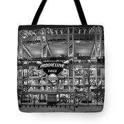 Stadium Black And White Tote Bag