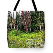 Stag Forest Tote Bag