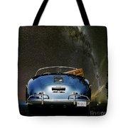 Star Gazing,1955 Porsche 356a 1600 Speedster, Under The Milky Way Tote Bag