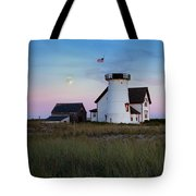 Stage Harbor Light Cape Cod Tote Bag