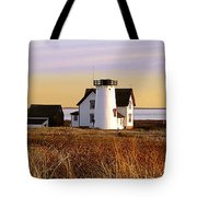Stage Harbor Lighthouse Chatham Tote Bag