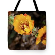 Staghorn Cactus Blossons Tote Bag