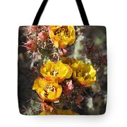 Staghorn Cholla Blossoms Tote Bag