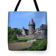 Stahleck Castle In The Rhine Gorge Germany Tote Bag