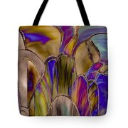 Stained Glass Abstract Tote Bag