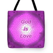 Church Glass Abstract Design Tote Bag