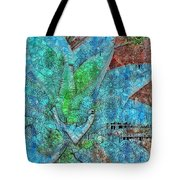 Stained Glass Agave Two  Tote Bag