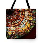 Stained Glass Ceiling Tote Bag