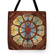 Stained Glass Ceiling Window Tote Bag