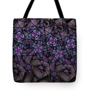 Stained Glass Floral II Tote Bag
