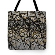 Stained Glass Floral IIi Tote Bag