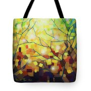 Stained Glass Forest Tote Bag