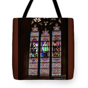 Stained Glass Glory Of St Patricks Tote Bag