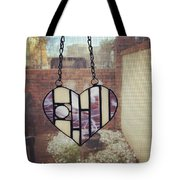 Stained Glass Heart Tote Bag