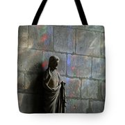Stained Glass Illuminates Christ Tote Bag