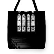 Stained Glass In Black And White Tote Bag