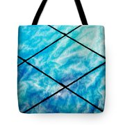 Stained Glass In Blues Tote Bag