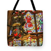 Stained Glass Lantern And Window Tote Bag