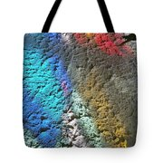 Stained Glass Light On Stucco Tote Bag