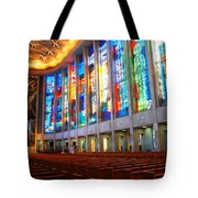 Stained Glass Of St Josephs, Hartford Tote Bag