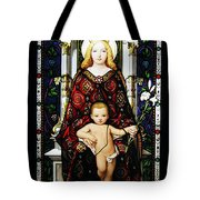 Stained Glass Of Virgin Mary Tote Bag
