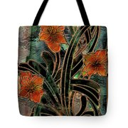 Stained Glass Parabolas Tote Bag