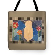 Stained Glass Pug Tote Bag