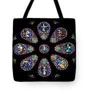 Stained Glass Rose Window In Lisbon Cathedral Tote Bag