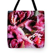 Stained Glass Roses 2 Tote Bag
