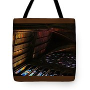 Stained Glass Sunset Notre Dame Paris Tote Bag