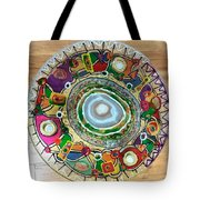 Stained Glass Table Top Tote Bag