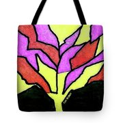 Tree - Stained Glass Watercolor Tote Bag