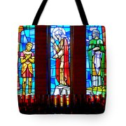 Stained Glass Triptych Tote Bag