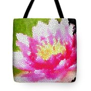 Stained Glass Waterlily Tote Bag