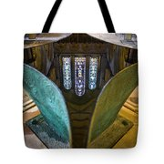 Stained Glass-window Reflection Tote Bag