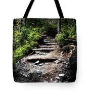Stair Stone Walkway In The Forest Tote Bag