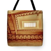 Staircase In Brown Tote Bag