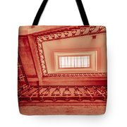 Staircase In Red Tote Bag