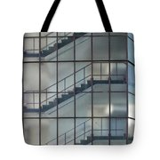 Stairs Behind Glass Tote Bag