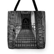 Stairs Beyond B-w Tote Bag