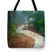 Stairs Down Mountain Tote Bag