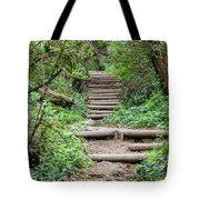 Stairs Going Up Hillside Tote Bag