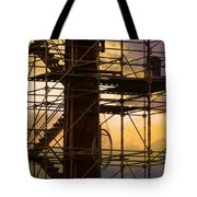 Stairs Lines And Color Abstract Photography Tote Bag