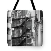Stairs Outside Building Tote Bag