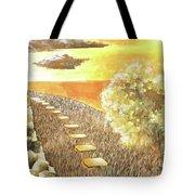 Stairs Towards The Horizon Tote Bag