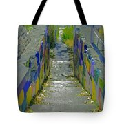 Stairs With Painted Rocks Tote Bag